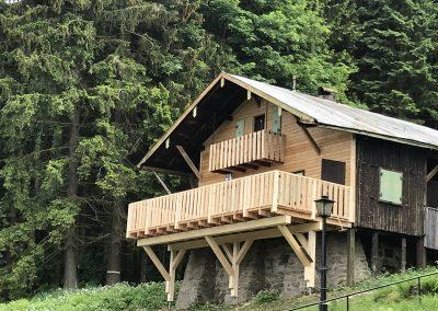 Terrasse Almhütte